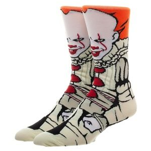 PENNYWISE THE CLOWN 360 Men's Crew Socks IT MOVIE